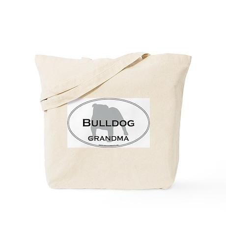 Bulldog GRANDMA Tote Bag