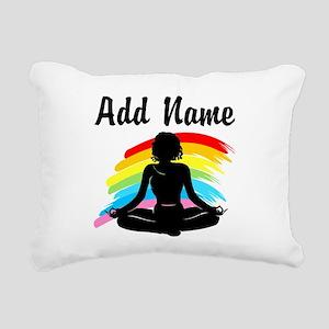 I LOVE YOGA Rectangular Canvas Pillow