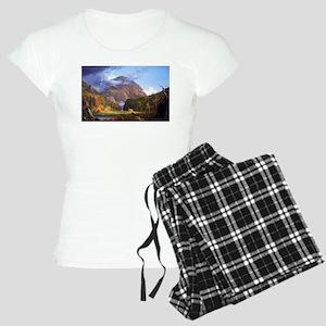Thomas Cole A View Of The Mountain Pass Women's Li