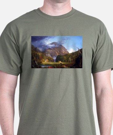 Thomas Cole A View Of The Mountain Pass T-Shirt