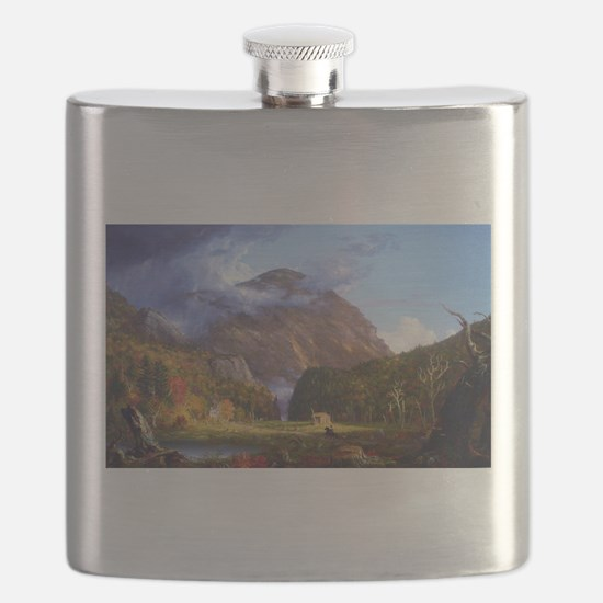 Thomas Cole A View Of The Mountain Pass Flask