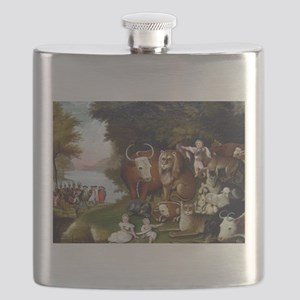 Edward Hicks Peaceable Kingdom Flask