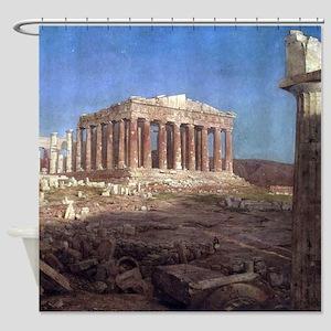 Frederic Edwin Church The Parthenon Shower Curtain