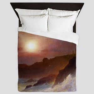 Frederic Edwin Church Coast Scene Queen Duvet