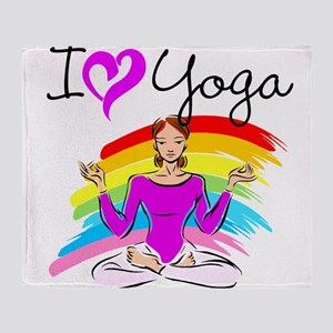 I LOVE YOGA Throw Blanket