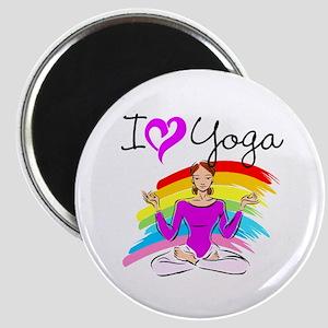 I LOVE YOGA Magnet