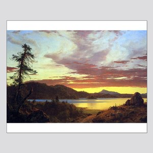 Frederic Edwin Church A Sunset Small Poster