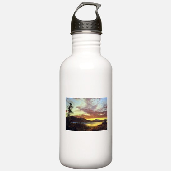 Frederic Edwin Church A Sunset Water Bottle