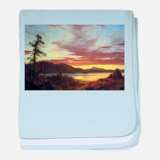 Frederic Edwin Church A Sunset baby blanket
