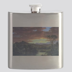 Frederic Edwin Church A Rural Home Flask