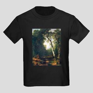 A creek in the woods Kids Dark T-Shirt