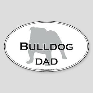 Bulldog DAD Oval Sticker