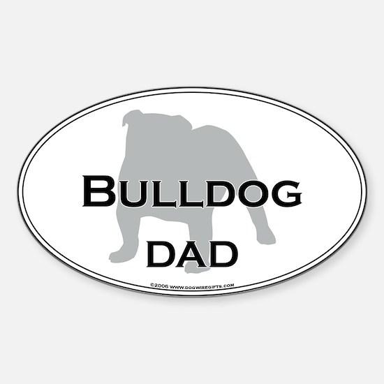 Bulldog DAD Oval Decal