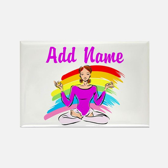 I LOVE YOGA Rectangle Magnet (100 pack)