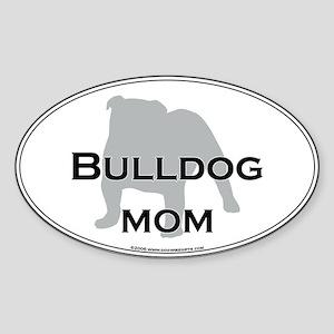 Bulldog MOM Oval Sticker