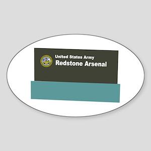 Redstone Arsenal Sticker (Oval)