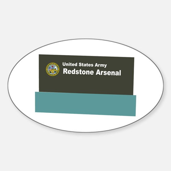 Redstone Arsenal Sticker (Oval)