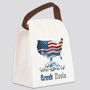 American Greek Roots Canvas Lunch Bag