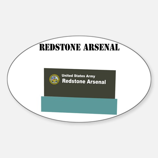 Redstone Arsenal with Text Sticker (Oval)