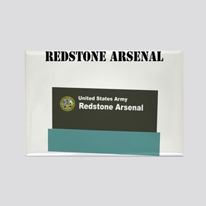 Redstone Arsenal with Text Rectangle Magnet