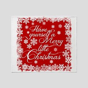 Merry little Christmas Throw Blanket