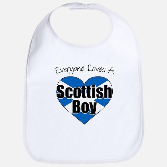 Everyone Loves Scottish Boy Bib
