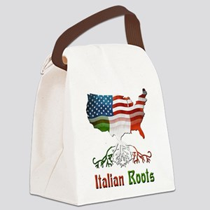 American Italian Roots Canvas Lunch Bag