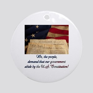 We The People Demand Ornament (Round)