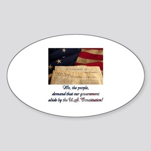 We The People Demand Sticker (Oval)