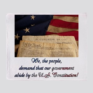 We The People Demand Throw Blanket