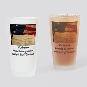 We The People Demand Drinking Glass