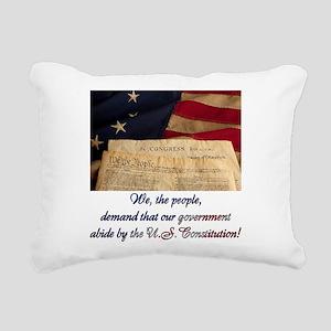 We The People Demand Rectangular Canvas Pillow