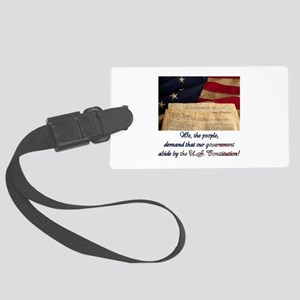 We The People Demand Large Luggage Tag