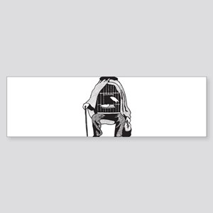 Bird Cage Man Sticker (Bumper 10 pk)