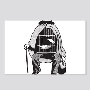 Bird Cage Man Postcards (Package of 8)