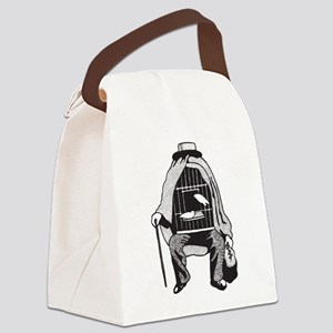 Bird Cage Man Canvas Lunch Bag