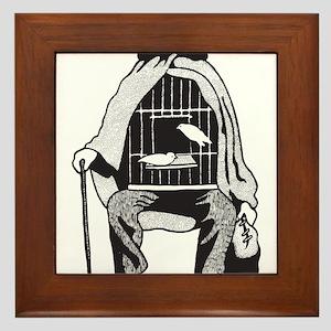 Bird Cage Man Framed Tile