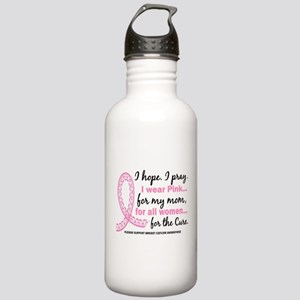 Hope Pray Wear Pink Breast Cancer Stainless Water