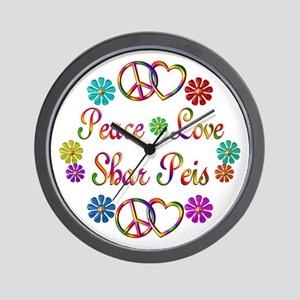 Shar Peis Wall Clock