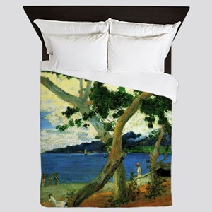 Paul Gauguin Beach Scene Queen Duvet