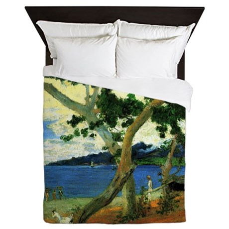 Paul Gauguin Beach Scene Queen Duvet