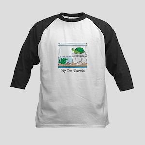My Pet Turtle Kids Baseball Jersey