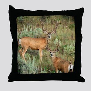 Mule deer velvet Throw Pillow