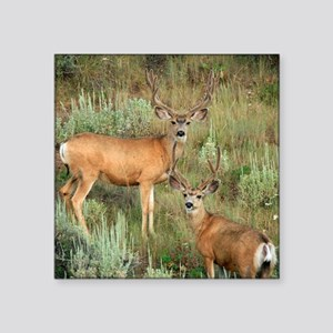 "Mule deer velvet Square Sticker 3"" x 3"""