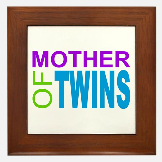 MOTHER OF TWINS Framed Tile