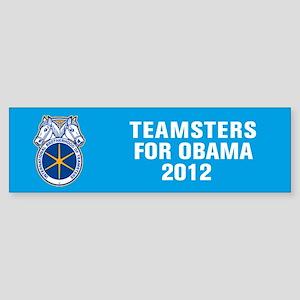 Teamsters For Obama Sticker (Bumper)