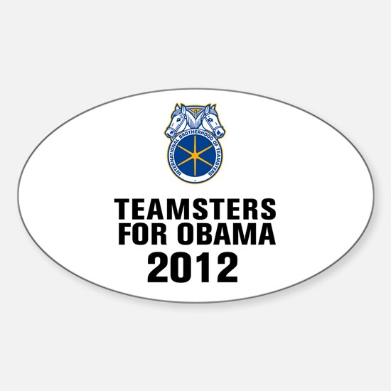 Teamsters For Obama Sticker (Oval)