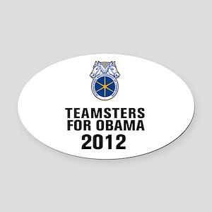 Teamsters For Obama Oval Car Magnet
