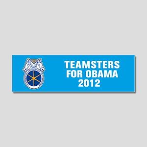 Teamsters For Obama Car Magnet 10 x 3
