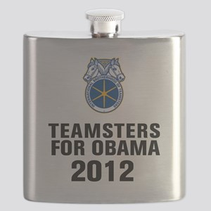 Teamsters For Obama Flask